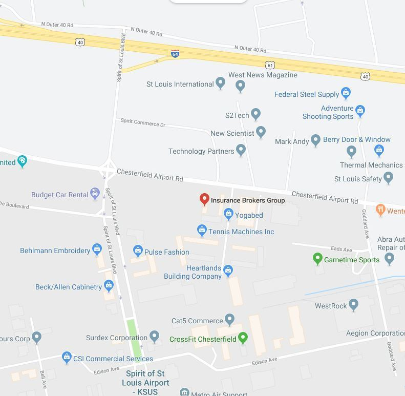 Insurance in Chesterfield Map